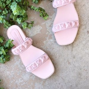 Stuart Weitzman Pink Rosebud Jelly Sandals Flats